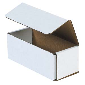 6.5x2.75x2.5 white corrugated mailers