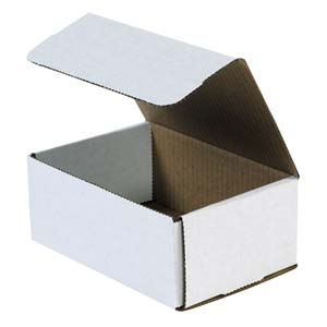 7.125x8x5 white corrugated mailers