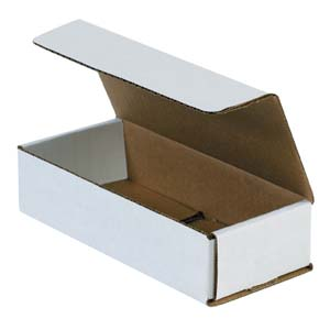 7.5x3.25x1.75 white corrugated mailers
