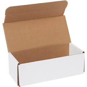 9x4x3 white corrugated mailers