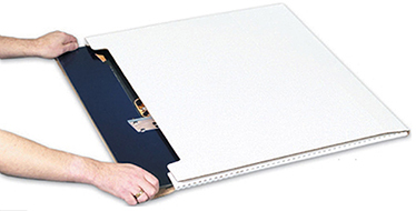 Jumbo Fold Over Mailers - White Corrugated