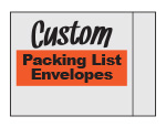 Custom Printed Packing List Envelopes