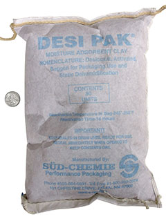 80 Unit Clay Desiccant Tyvek Packets