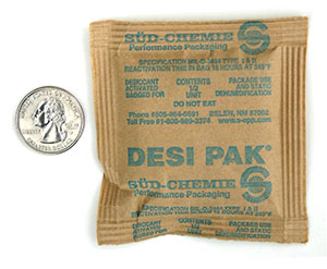 1/2 Desi-Pak #3741 3 x 3.5 Clay Desiccant Packets