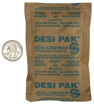 1 unit Desi-Pak #3785 5x3.5 Clay Desiccant Packets