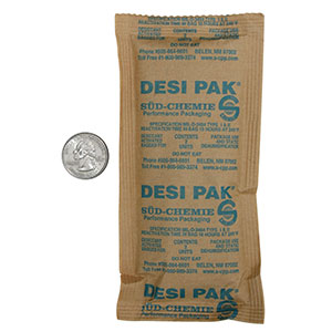 2 Desi-Pak #200002886 3 x 6 1/2 Clay Desiccant Packets