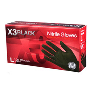 Ammex Black Nitrile Gloves 3 mil - Extra Extra Large