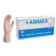 Ammex Premium Vinyl Gloves 5 mil - Medium