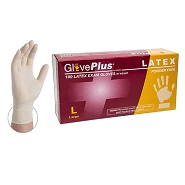 GlovePlus Premium Latex Gloves 5 mil - Medium
