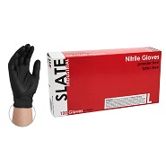 Slate Standard Black Nitrile Gloves - Large