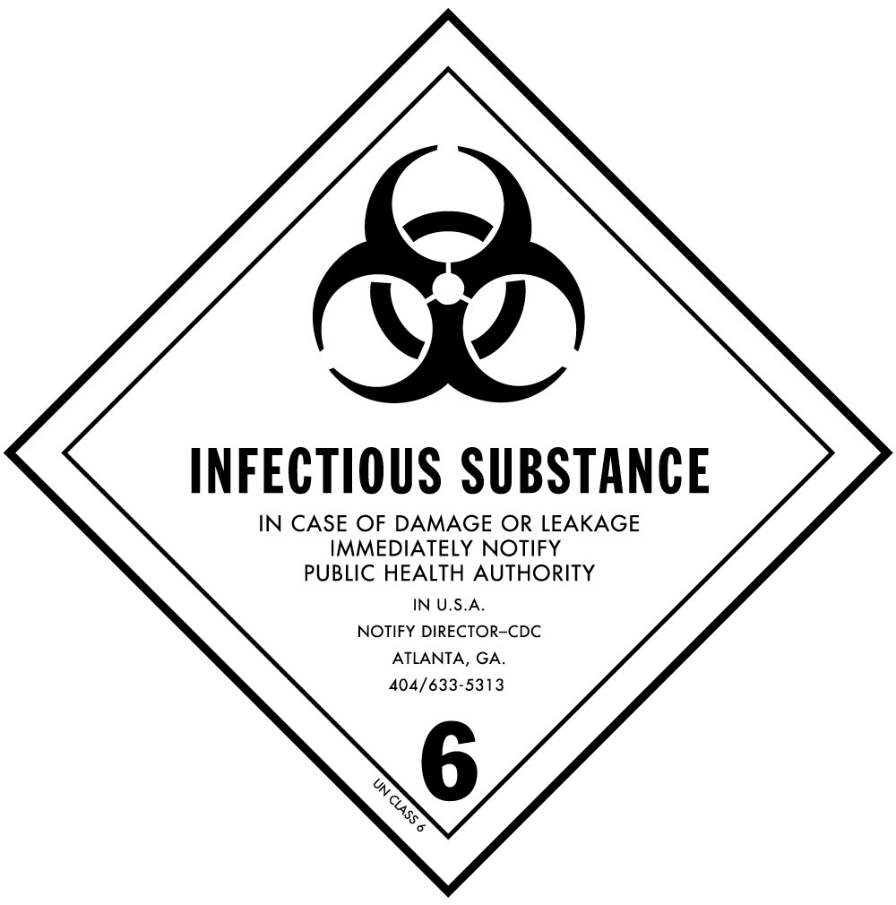 Dot infectious substance label for hazardous materials class 6 dot infectious substance label for transportation of hazardous materials class 6 biocorpaavc Images