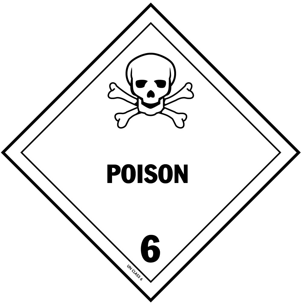 Dot poisonous material label for hazardous materials class 6 dot poisonous material label for hazardous materials biocorpaavc Images