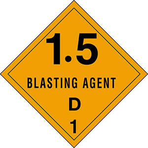 1.5D Explosives DOT Hazmat Labels