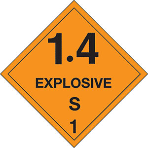 1.4S Explosives DOT Hazmat Labels
