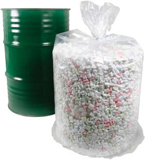 55 Gallon 4 Mil Round Bottom Clear Plastic Low Density Drum Liners  38 x 40
