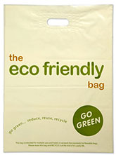 Eco Friendly Patch Handle Green Bag