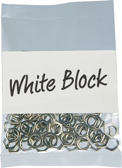 White Block Poly Bags