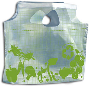 11 x 10 + 3.5 1 Mil Pre-Printed Plastic Lunch Bags