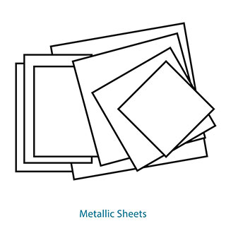 20x20 Metallic Sheets