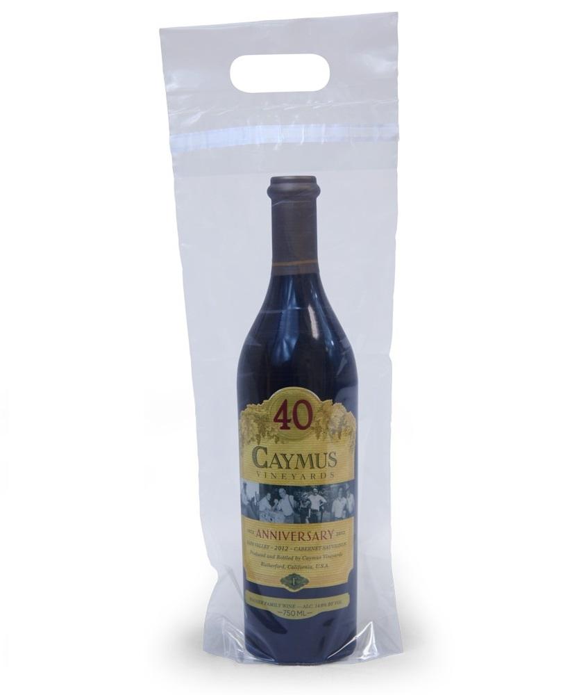 7x17 3 Clear Wine Bottle Bags