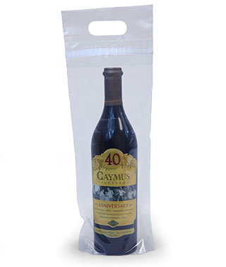 7x17+3 Clear Wine Bottle Bags