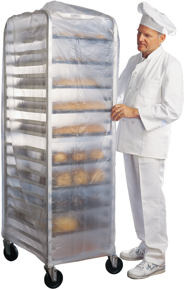 50 Sheets Clear 15 Micron Inteplast Group BR52X80 Bun Rack and Pan Cover 52 x 80 1-Rack