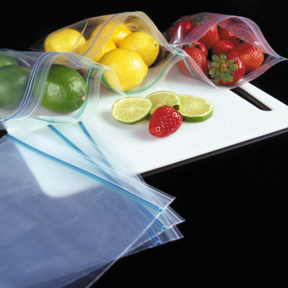 Colorzip Food Storage Bags Minigrip Reclosable Freezer Storage Bags