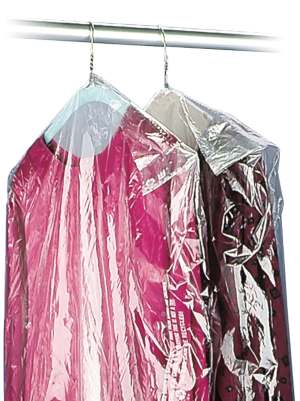 21 x 4 x 54 .5 Mil Clear Plastic Garment Bags and Dry Cleaning Bags on Rolls