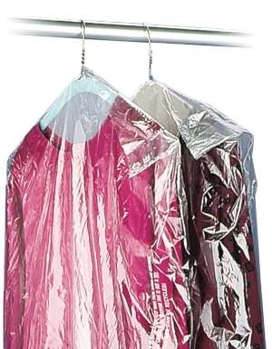 21x4x60 .5 Mil Clear Plastic Garment Bags and Dry Cleaning Bags on Rolls for Dresses