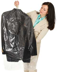 e4292e62101 Retail Merchandise Shopping Bags  Dry Cleaning Bags. Clear Plastic Garment  Bags