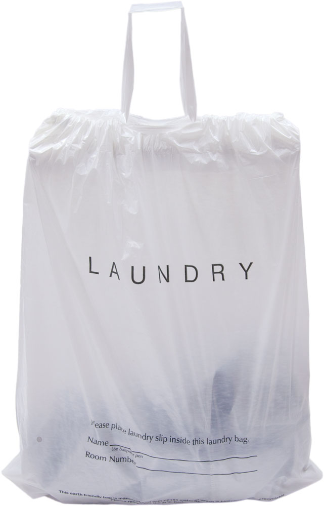 Draw Tape Hotel Laundry Bags Biodegradable
