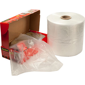 23x17x40 1mil Gusseted Poly Bags on Roll