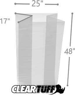 25x48 4 mil gusseted poly bag