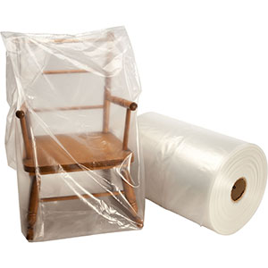 26x24x48 3mil Gusseted Poly Bags on Roll