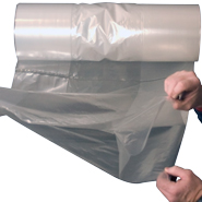 6x3x15 1.5mil Gusseted Poly Bags on Roll
