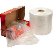 8x4x15 1mil Gusseted Poly Bags on Roll