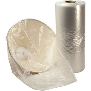 8x4x18 2mil Gusseted Poly Bags on Roll