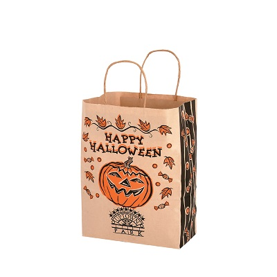 Natural Kraft Halloween Shopper
