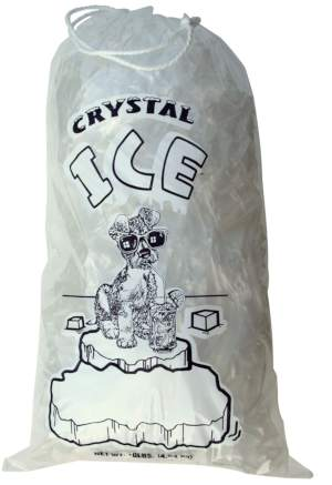 10 lb Crystal Ice Icebag with Drawstring