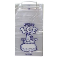 8 lb PURE ICE Ice Bag on Wickets with Polar Bear graphic