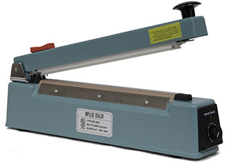 16 inch Impulse Hand Operated Manual Sealer with built in Trimmer