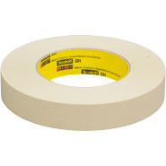 3M 231 Scotch Paint Masking Tape Natural 1 inch x 60 Yards
