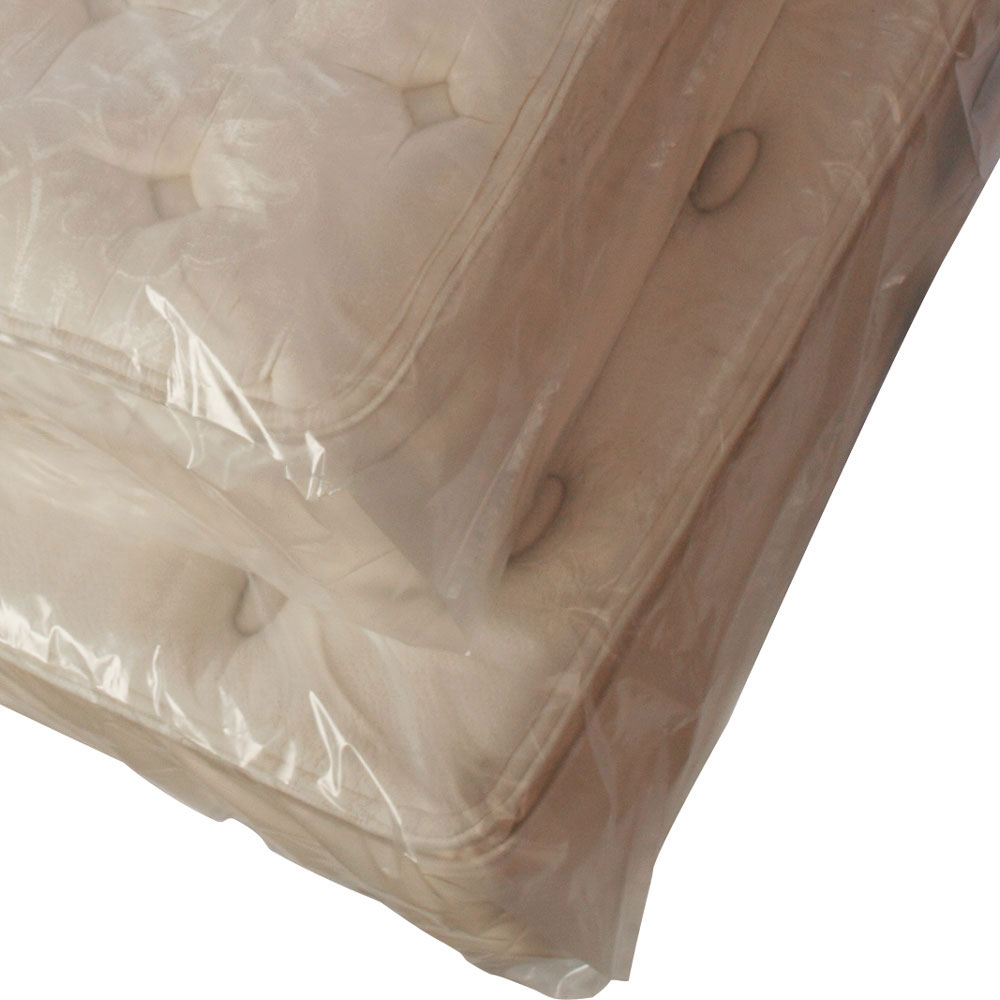 "Full Mattress Plastic Bags 4 Mil 54"" x 9"" x 90"" Gusseted"