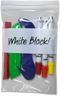 ClearZip White Block Reclosable Bag