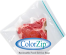 ColorZip Reclosable Food Service, Storage and Freezer Bags