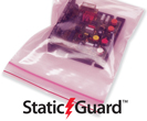 Minigrip Pink Anti Static Reclosable Bags - 4 Mil Static-Guard