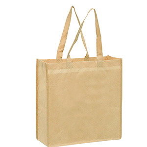 13 x 5 x 13 + 5 Non Woven Grocery Bags with Poly Board Inserts