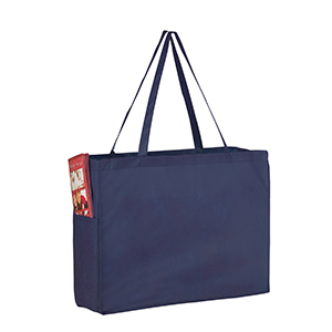 16 x 6 x 12 Navy Non Woven Over the Shoulder Tote Bag