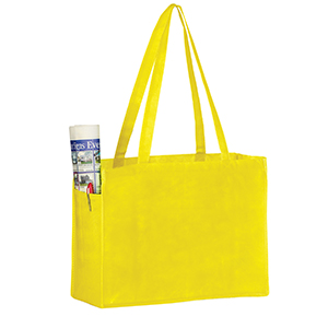 16 x 6 x 12 Yellow Non Woven Over the Shoulder Tote Bag