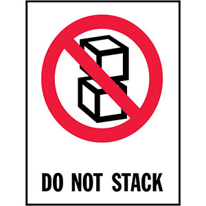 DO NOT STACK - International Safe Handling Label